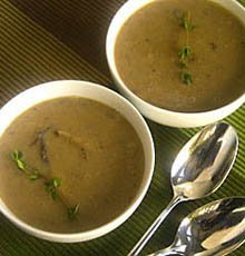 Mushroom Sherry Soup on JillHough.com