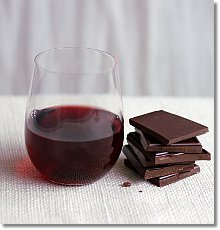 Wine and chocolate? No thank you.